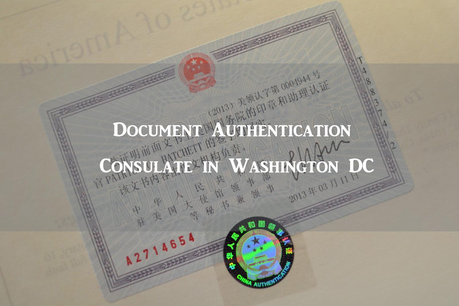 Document authentication consulate in washington dc visa for Consul authentication